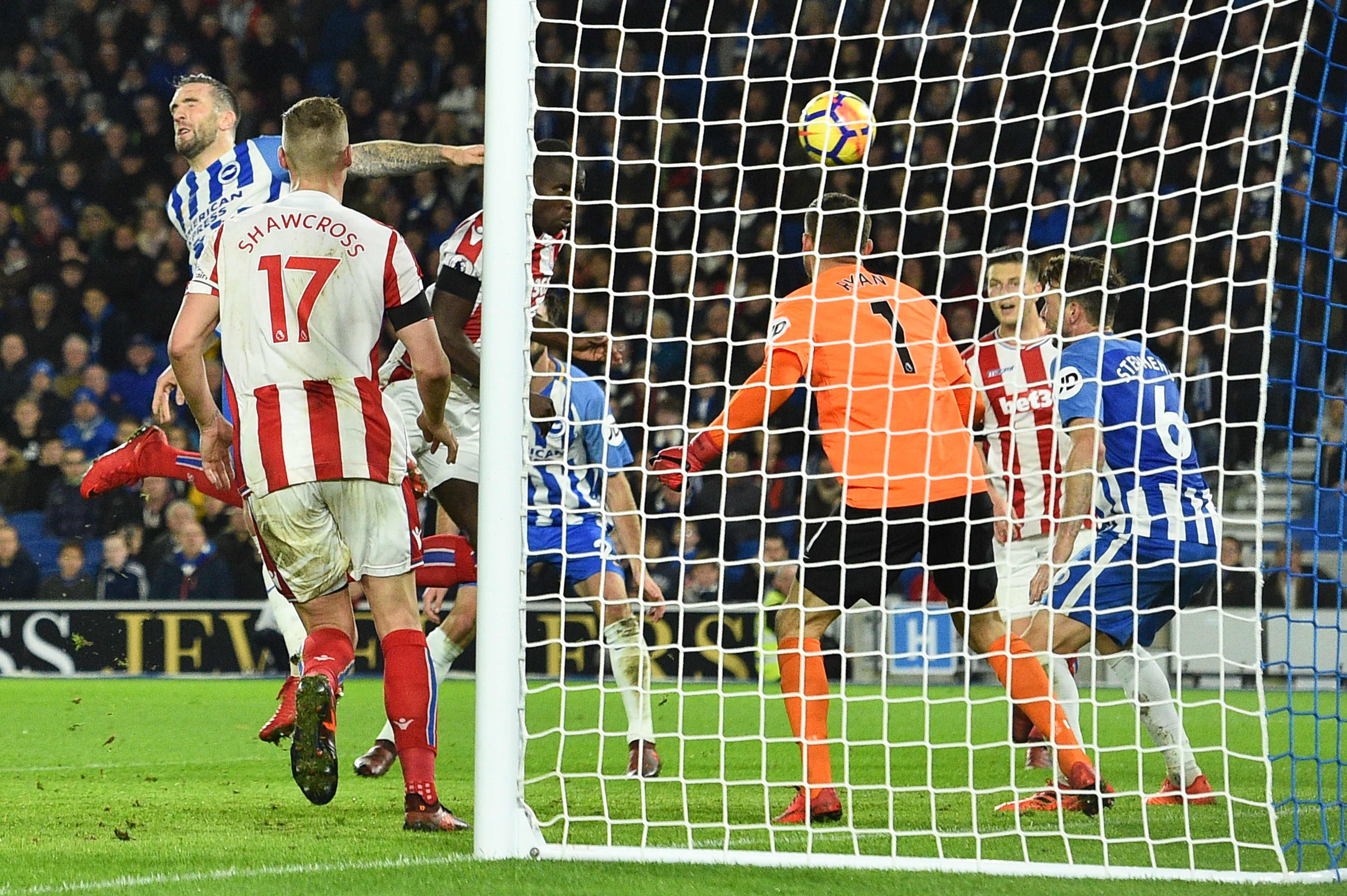 Chelsea loanee Kurt Zouma headed the Potters in front on the stroke of half time