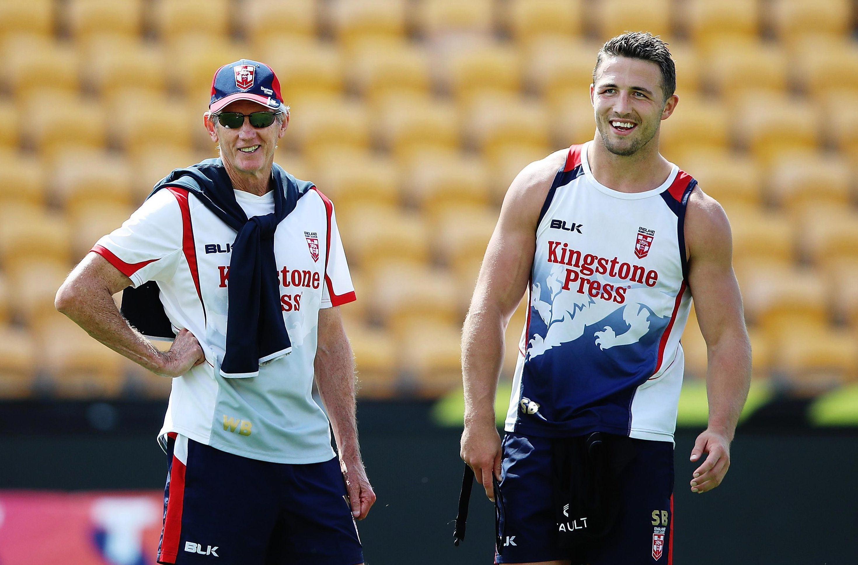 SunSport's plan includes more room for the likes of Sam Burgess (right) to represent England under Wayne Bennett (left)