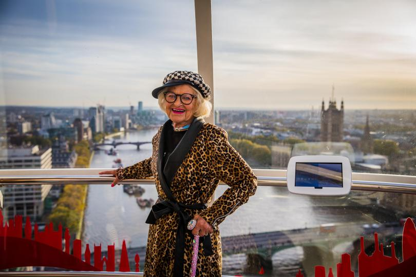 Instagram star, Baddie Winkle who is doing a world tour accompanied by her great-granddaughter, Kennedy