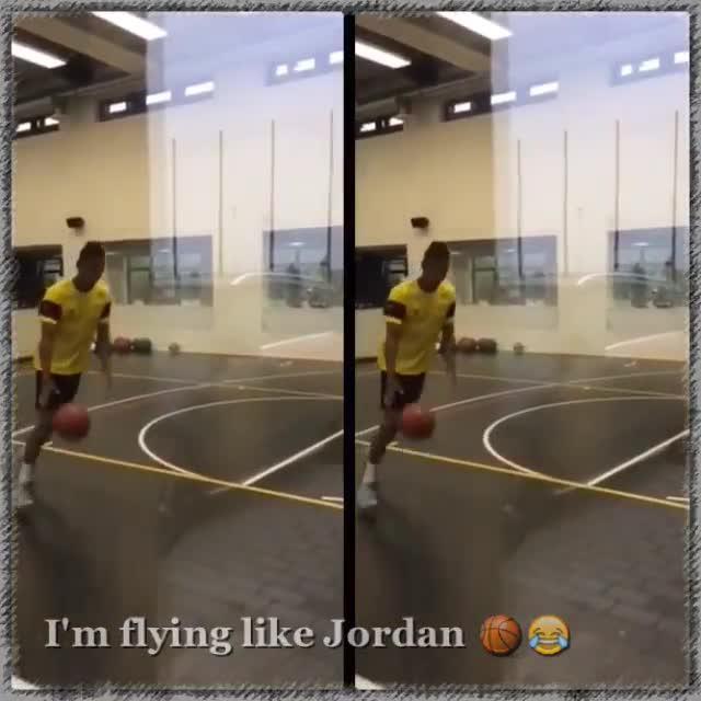Pierre-Emerick Aubameyang is not just a football star, he's a keen basketball fan