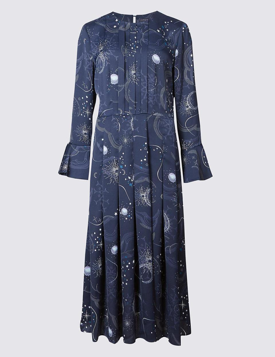 The galaxy dress is available online now in sizes six to 18