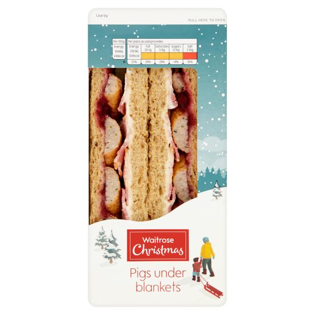 This Waitrose Christmas sarnie comes in at 501 calories