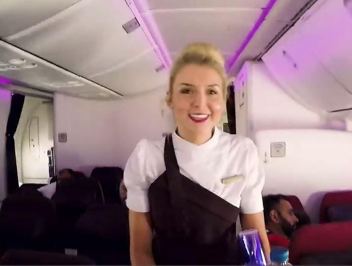 Cameras follow 25-year-old Emma Ashley and her colleagues on a flight from London to LAX