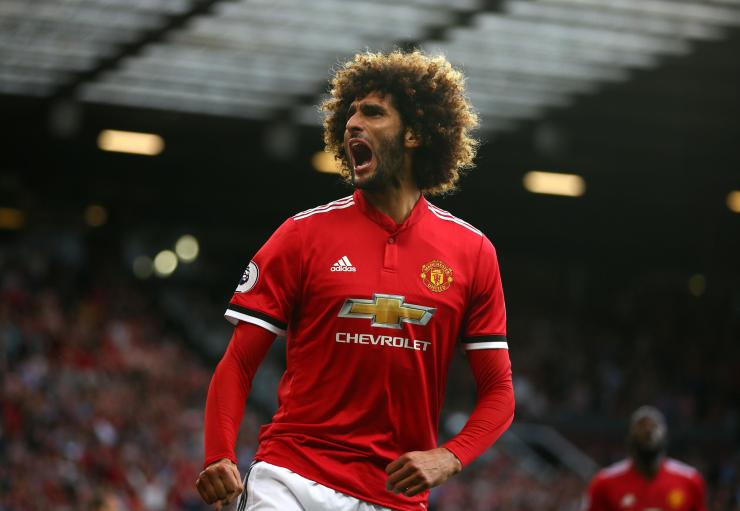 Marouane Fellaini has won the crowd over at Manchester United