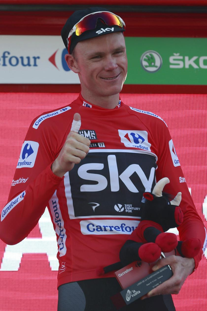 Резултат со слика за Chris Froome: Cyclist facing questions over adverse test result