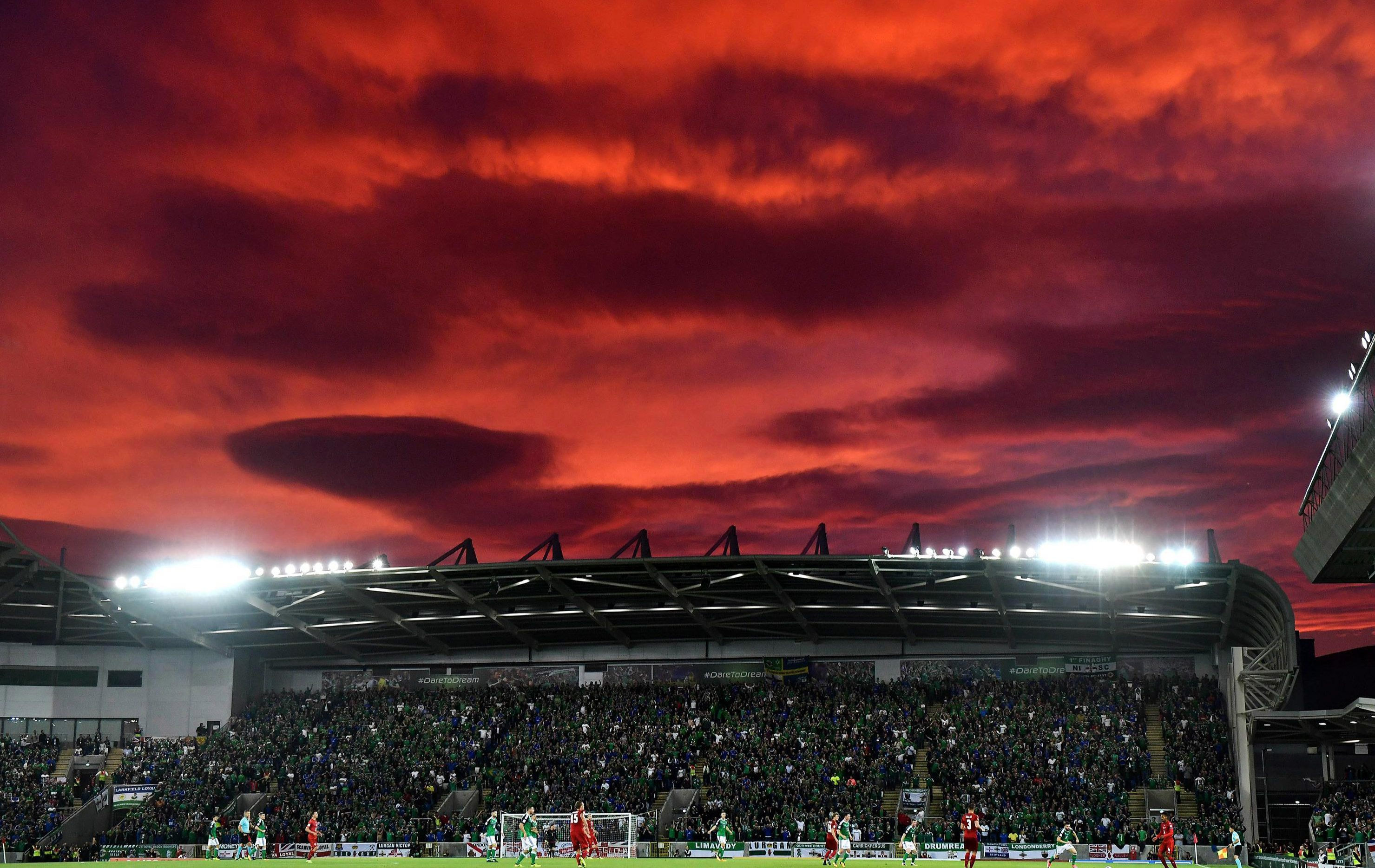 The World Cup qualifier between N.Ireland and Czech Republic set the sky on fire