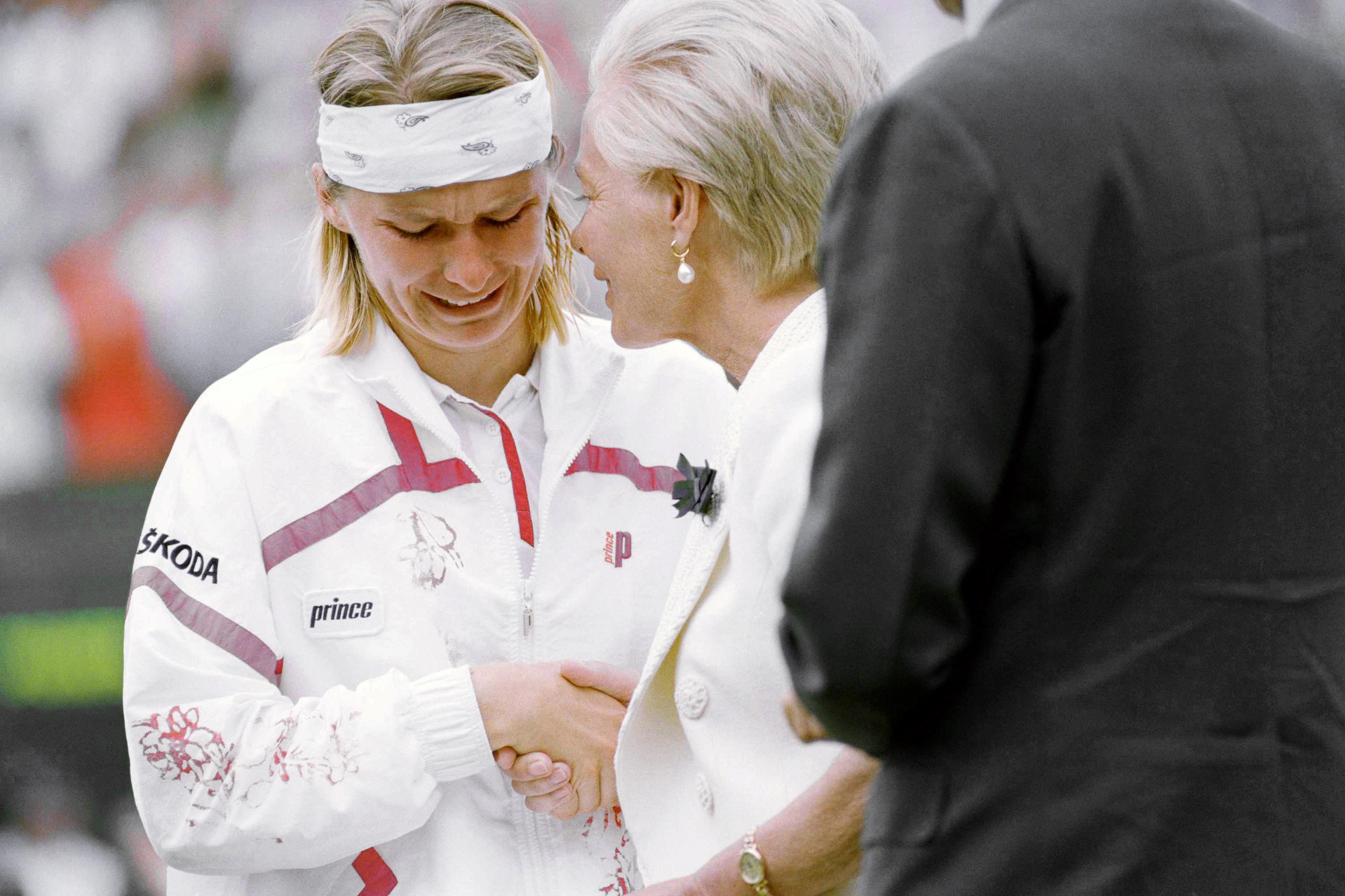 Jana was famously consoled by the Duchess of Kent when she burst into tears after losing to German great Steffi Graf at Wimbledon in 1993