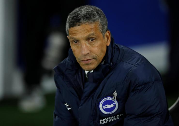 Chris Hughton's men are currently four places ahead of Huddersfield in the Prem table