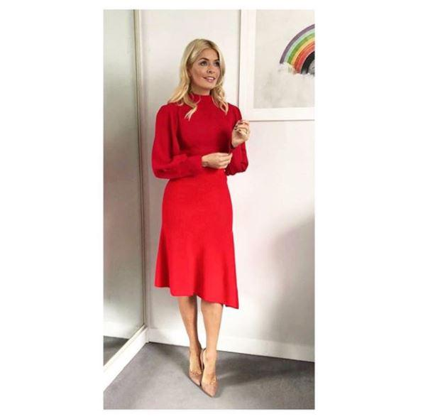 The TV host made a bold statement in head-to-toe red