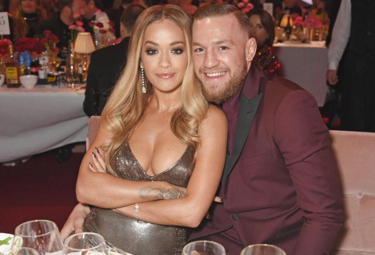 Rita and Conor cosied up for some pictures at the Fashion Awards on Monday night