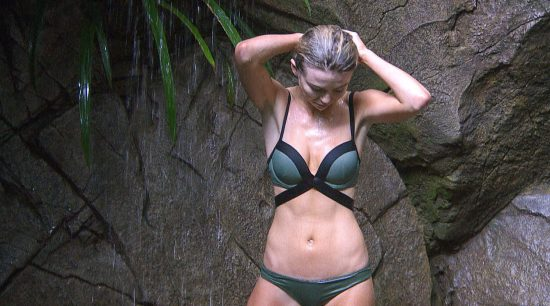 Georgia Toffolo keeping it cool in the jungle