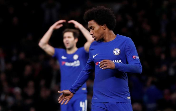 Chelsea look set to go up against Barcelona or PSG in the Champions League last-16