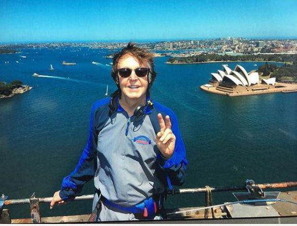 Paul McCartney climbed the Sydney Harbour Bridge
