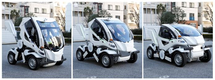 earth-1 fold-up electric car is like a real-life transformers action