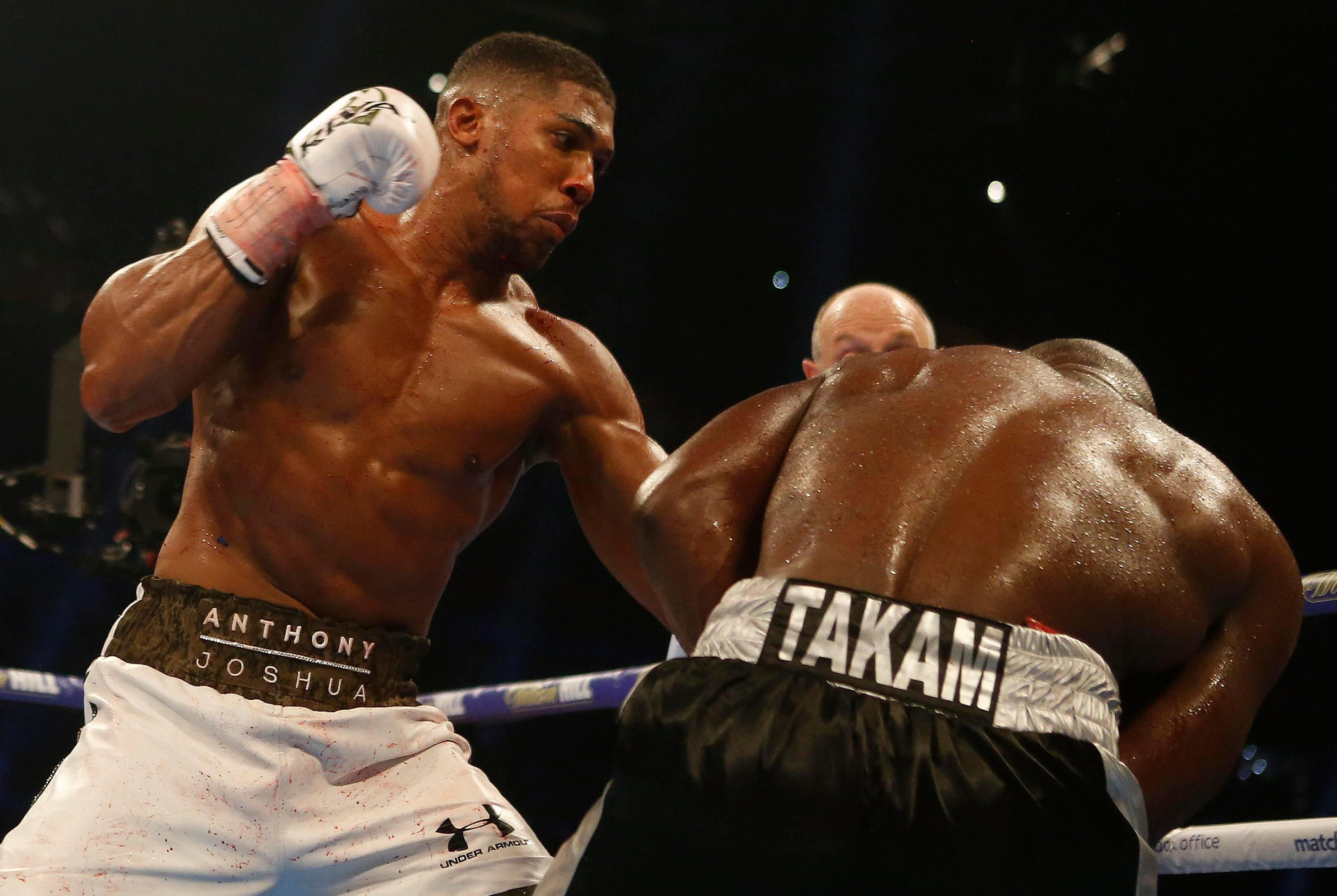 Anthony Joshua defended his world titles against Carlos Takam last time out