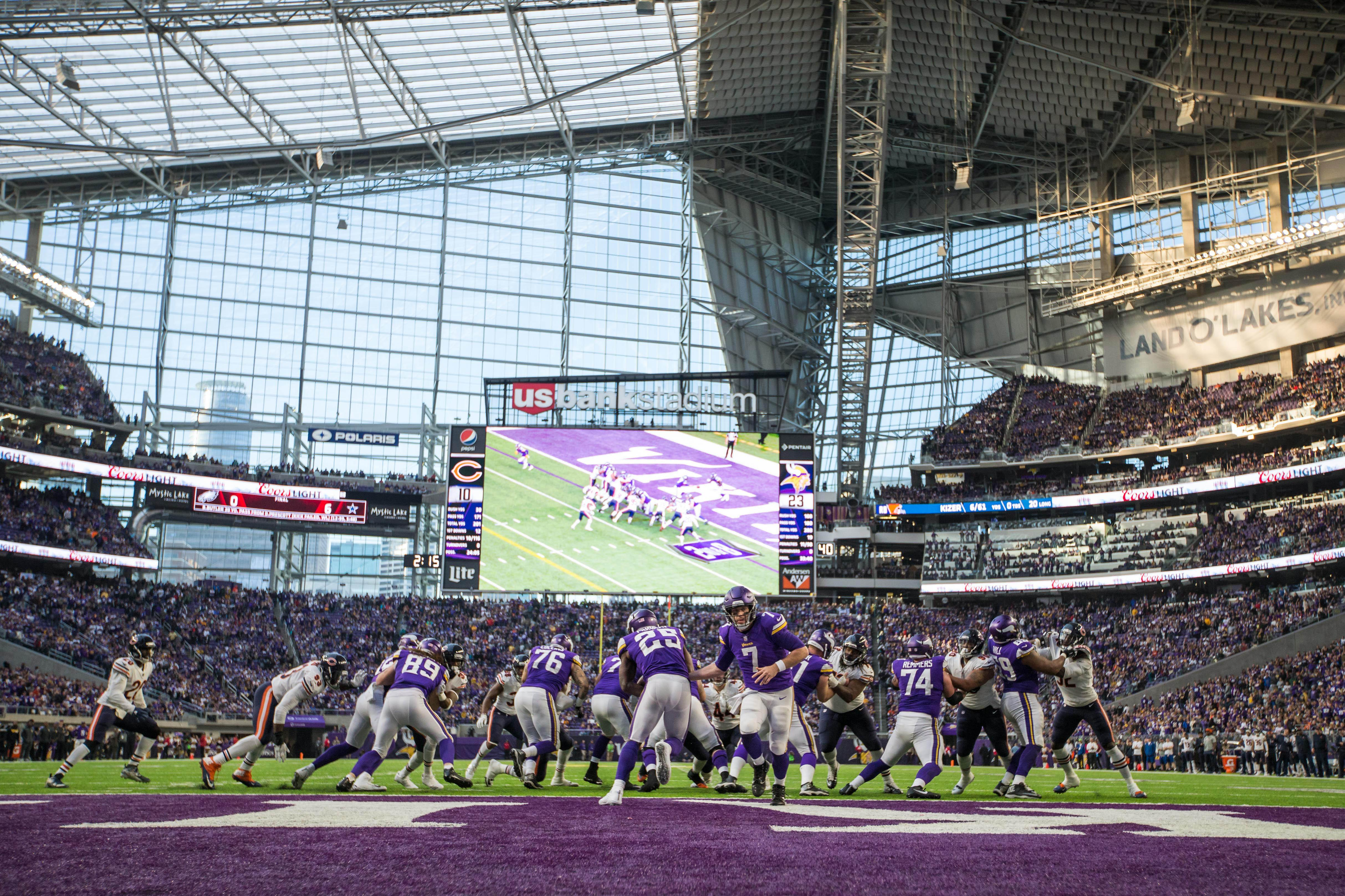 Minnesota Vikings are hoping to reach a home Super Bowl at US Bank Stadium