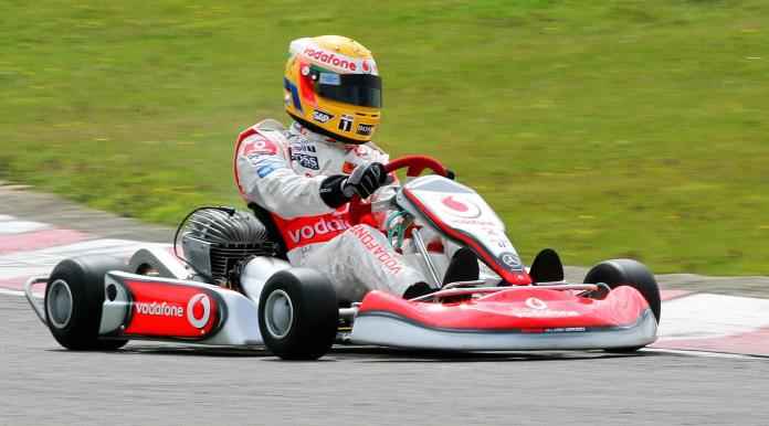 Go-karting at a driving experience day