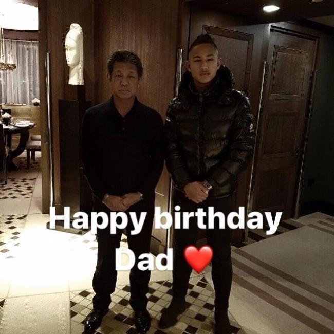 Jefri Bolkiah celebrates his birthday with his son