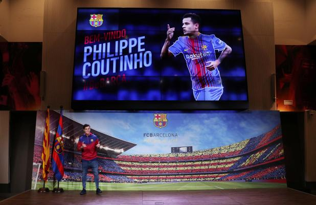 nintchdbpict000376697453 - Barcelona to officially present Philippe Coutinho to the media at Nou Camp on Monday