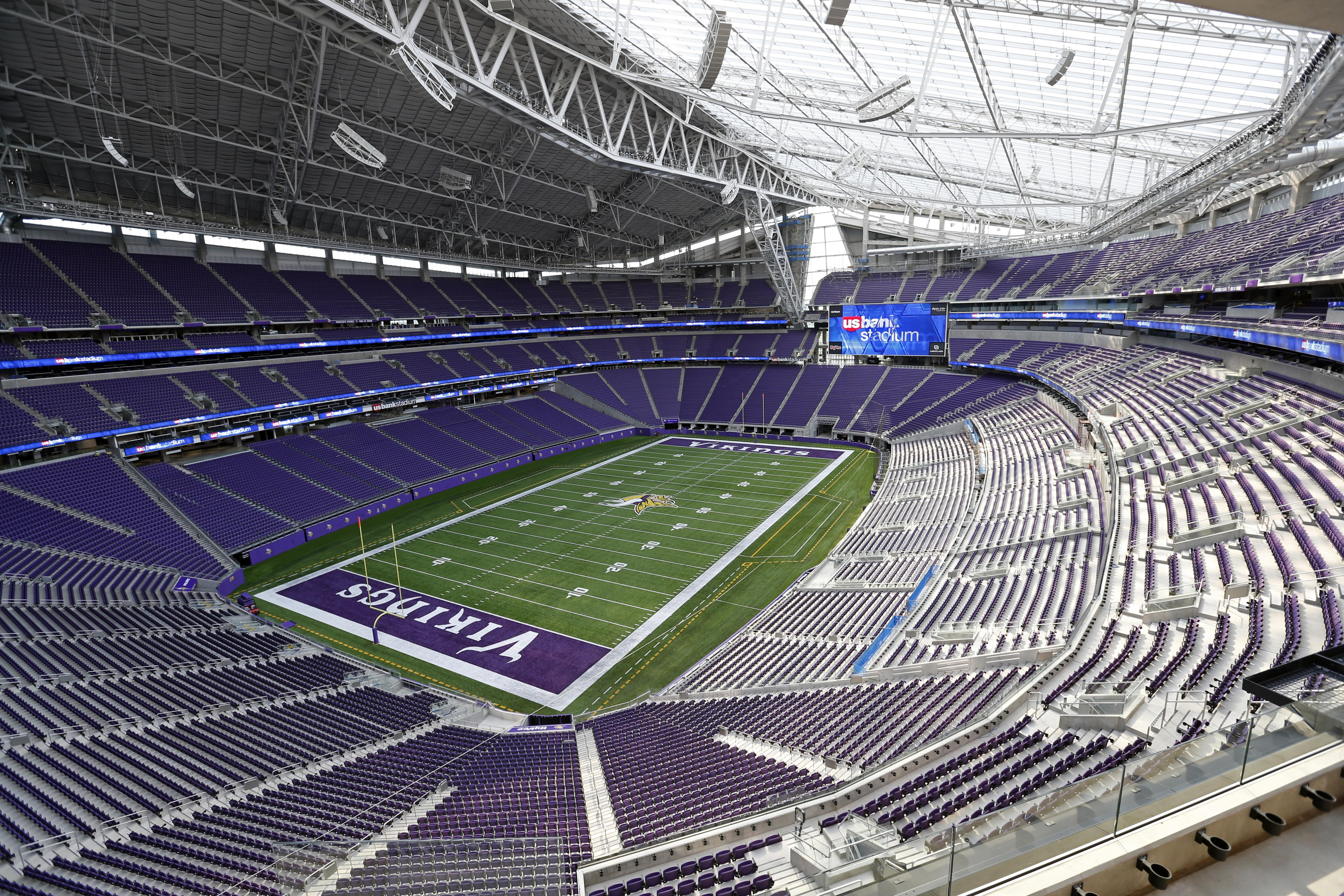 US Bank Stadium in Minneapolis plays host to the Super Bowl this year