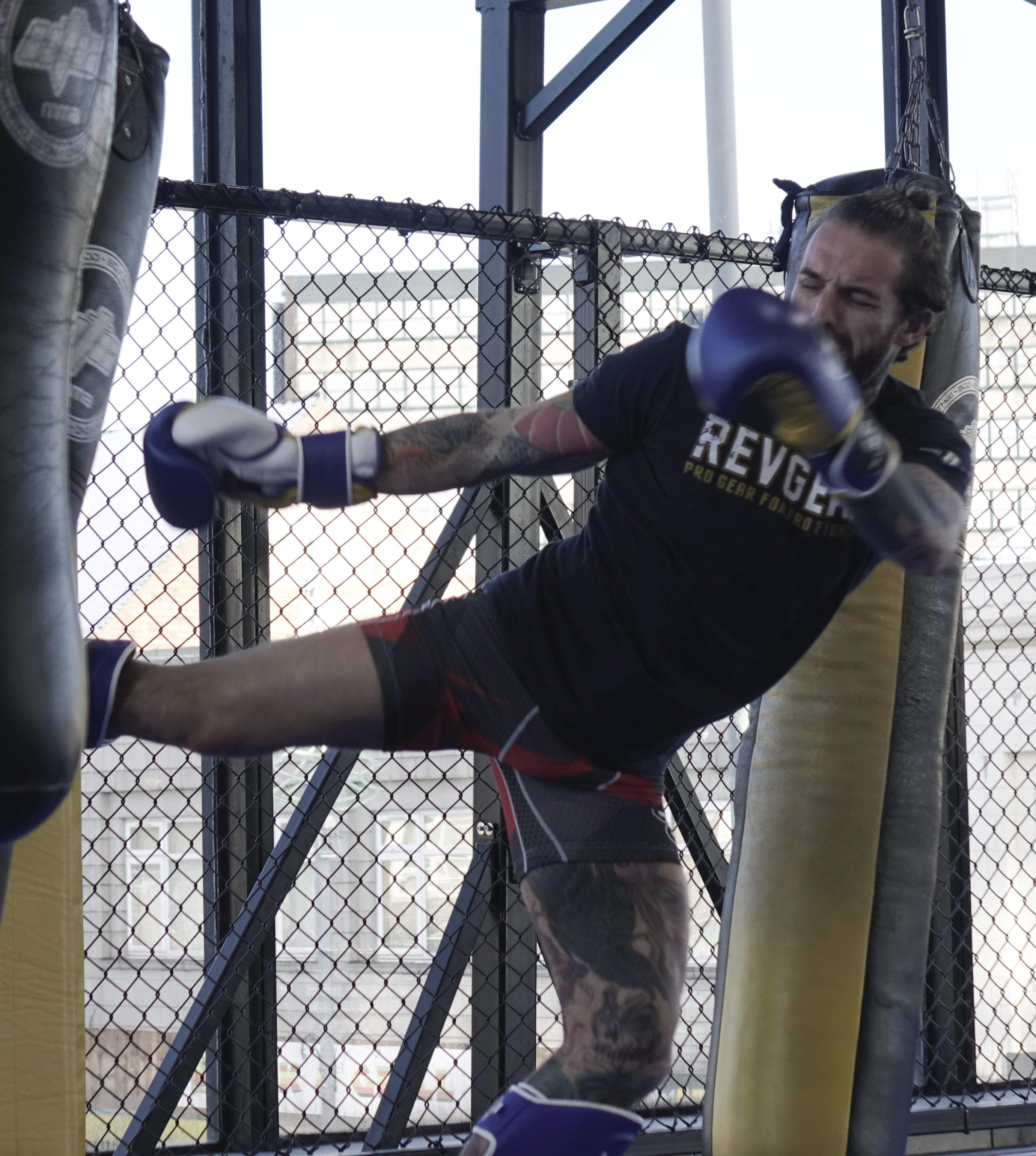 Aaron Chalmers has kicked down the doors to pro MMA from a TV career