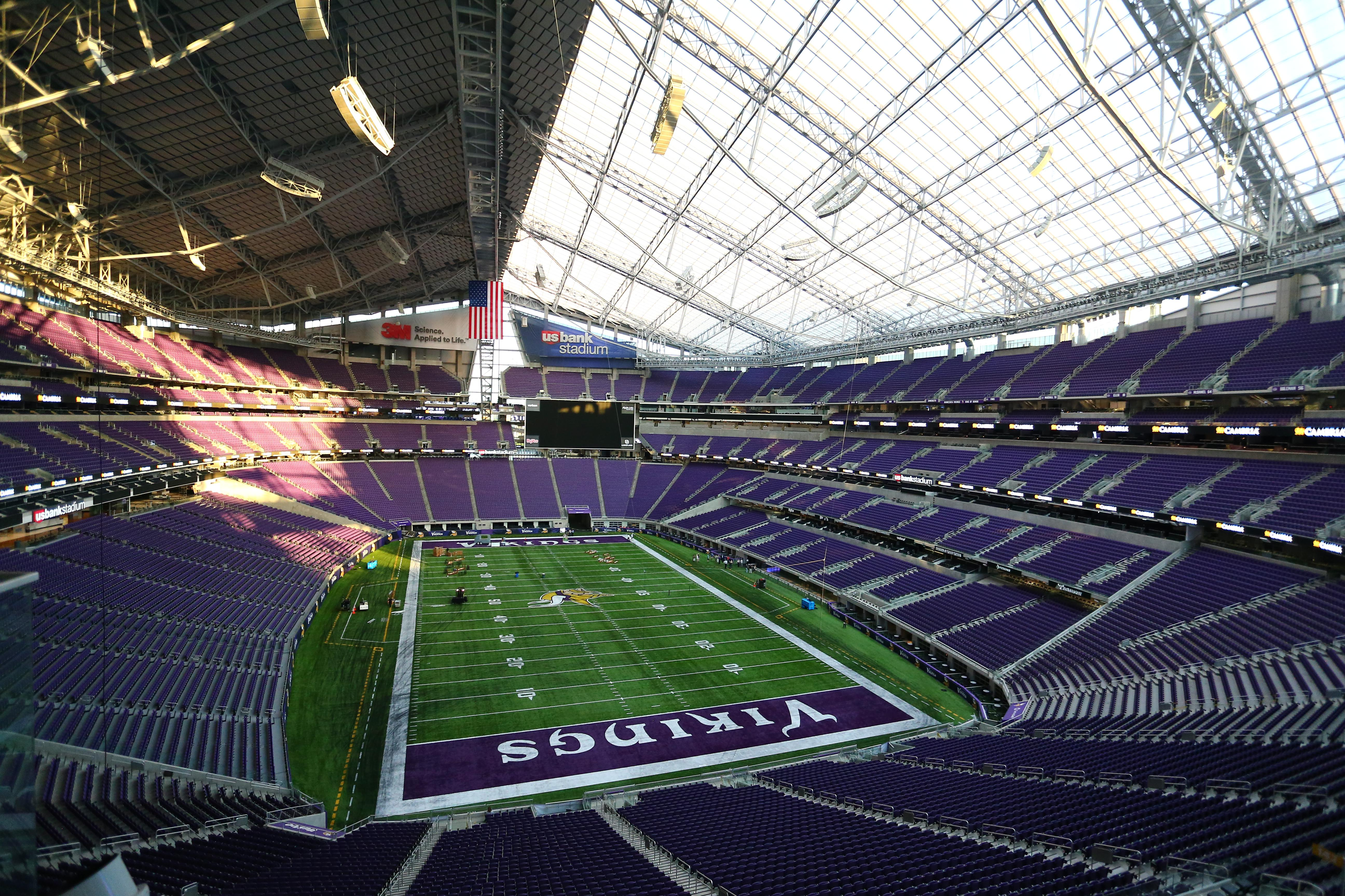 US Bank Stadium spreads over 1.75million square feet in the heart of downtown Minneapolis