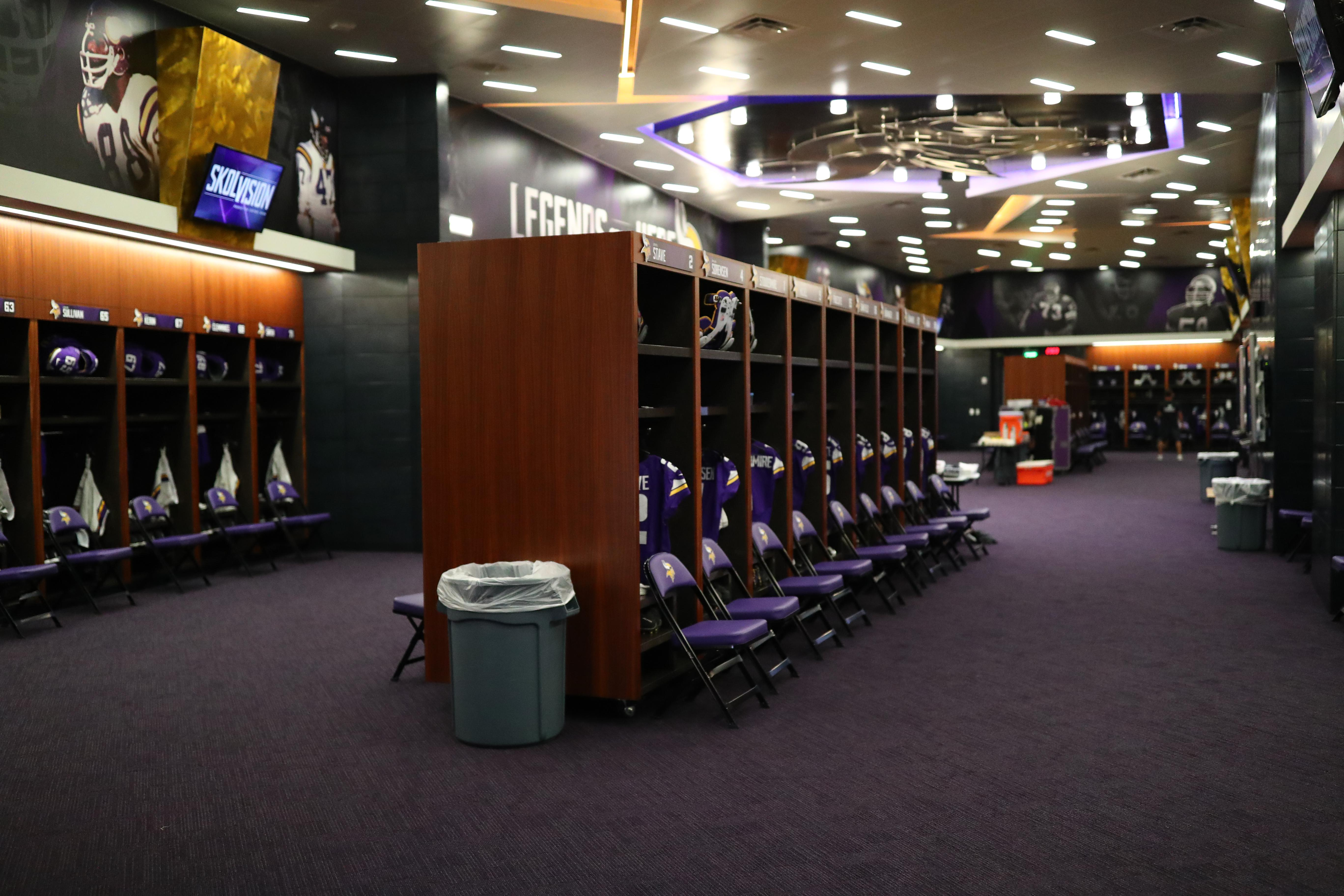The locker rooms at US Bank Stadium are some of the most luxurious anywhere in the world