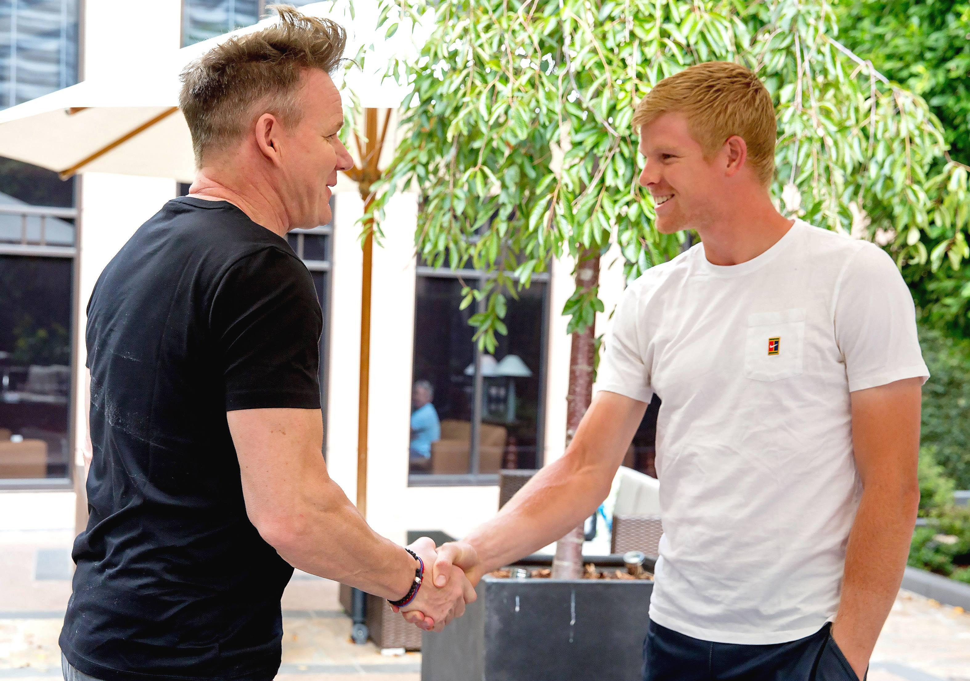 Gordon Ramsay described Kyle Edmund as a 'lean butcher's dog'