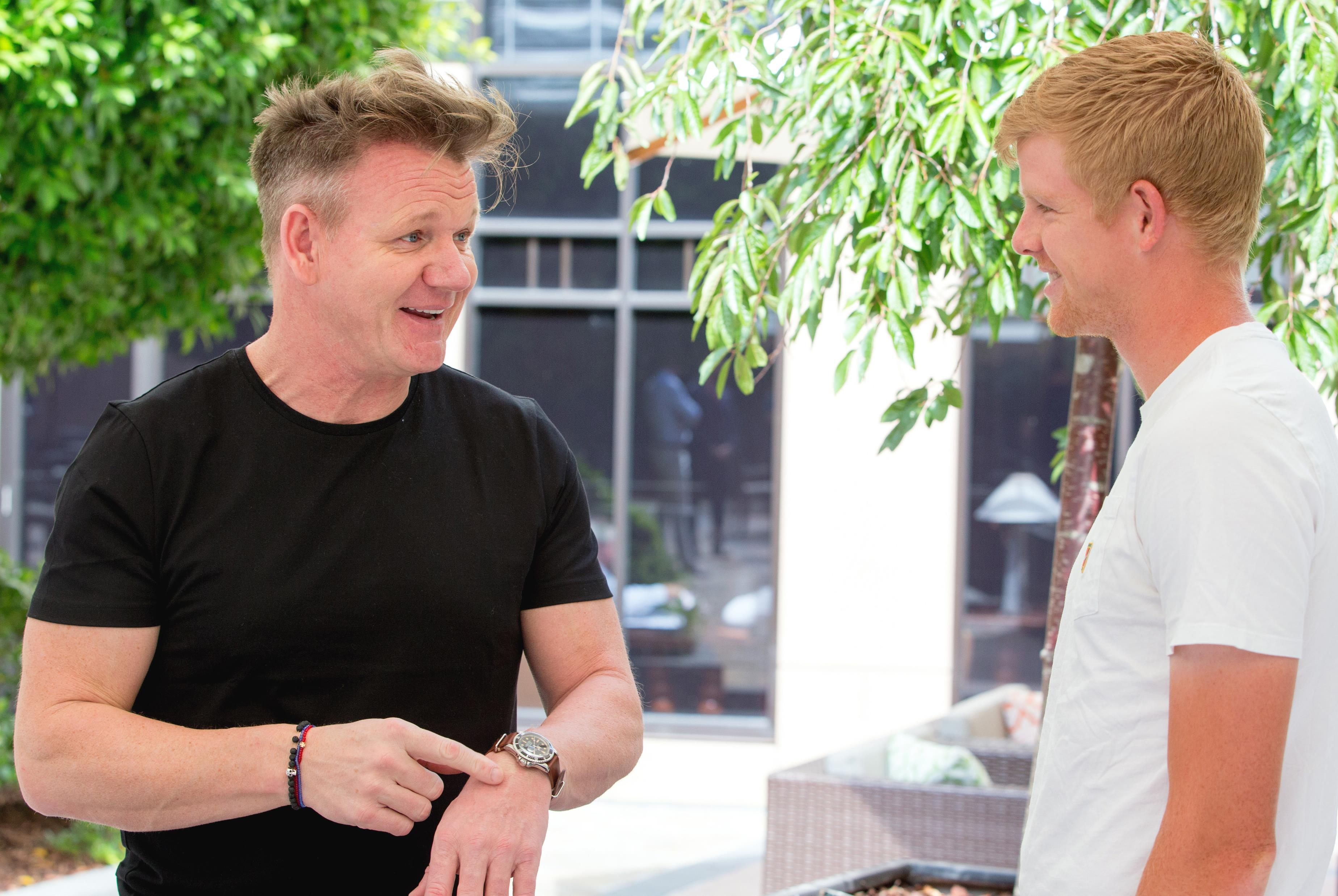 Kyle Edmund admitted he is a fan of Gordon Ramsay but cannot replicate him
