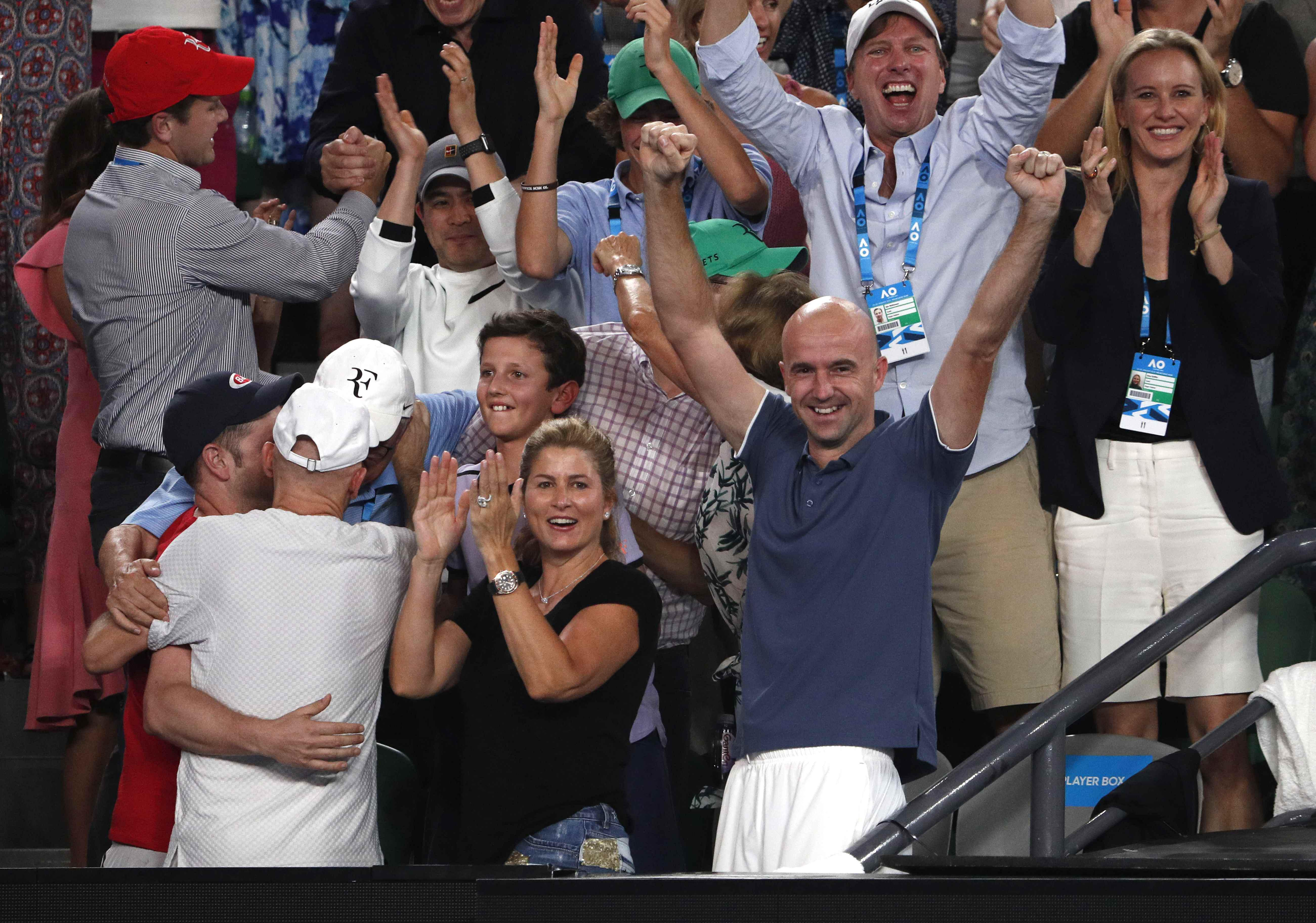 Federer's wife Mirka and coach Ivan Ljubicic were on hand to watch as he made history