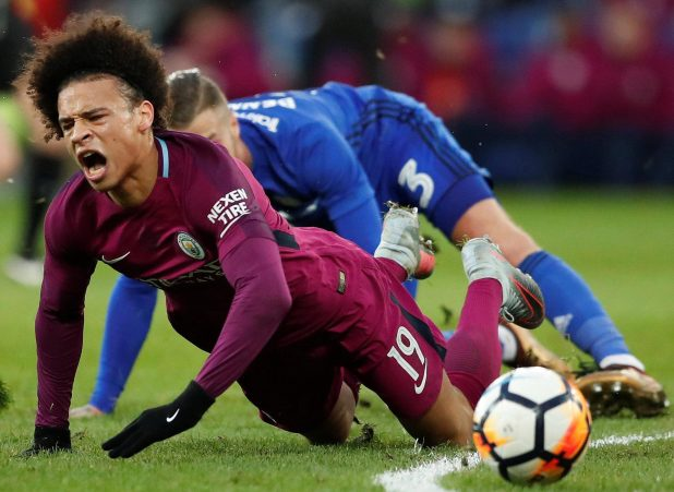 nintchdbpict000381270301 e1517162084562 - Manchester City confirm Leroy Sane suffered ankle ligament damage in horror challenge from Cardiff's Joe Bennett