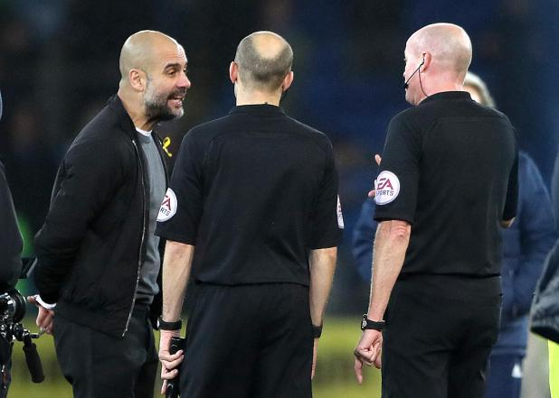 nintchdbpict000381281386 - Pep Guardiola berated referee Lee Mason for failing to protect Man City players like injured Leroy Sane