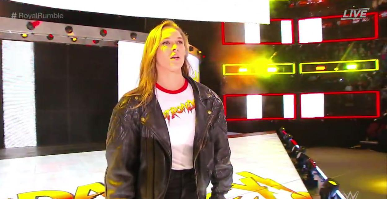 Ronda Rousey made her debut at the Royal Rumble