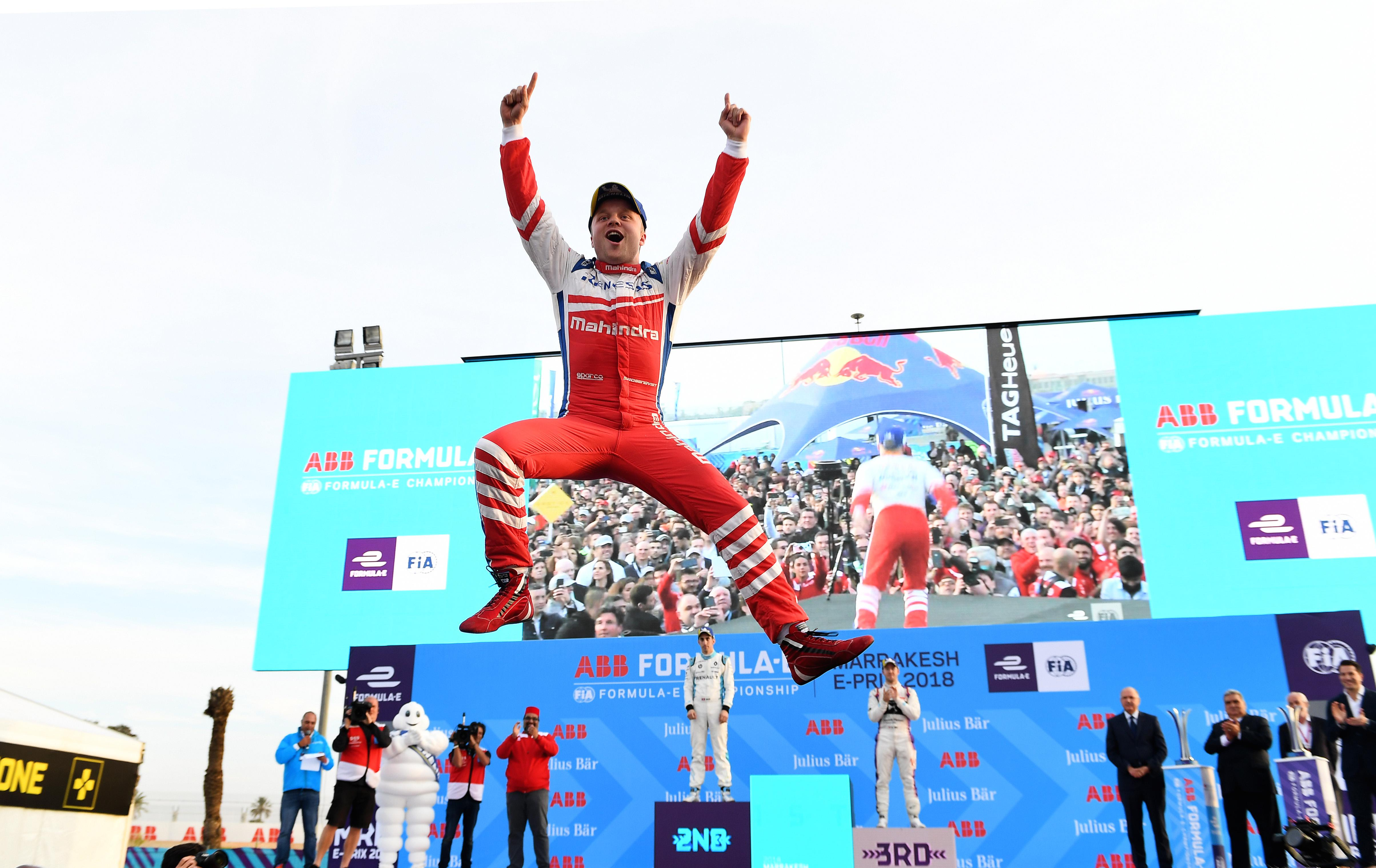 Sweden's Felix Rosenqvist is currently leading the Formula E table