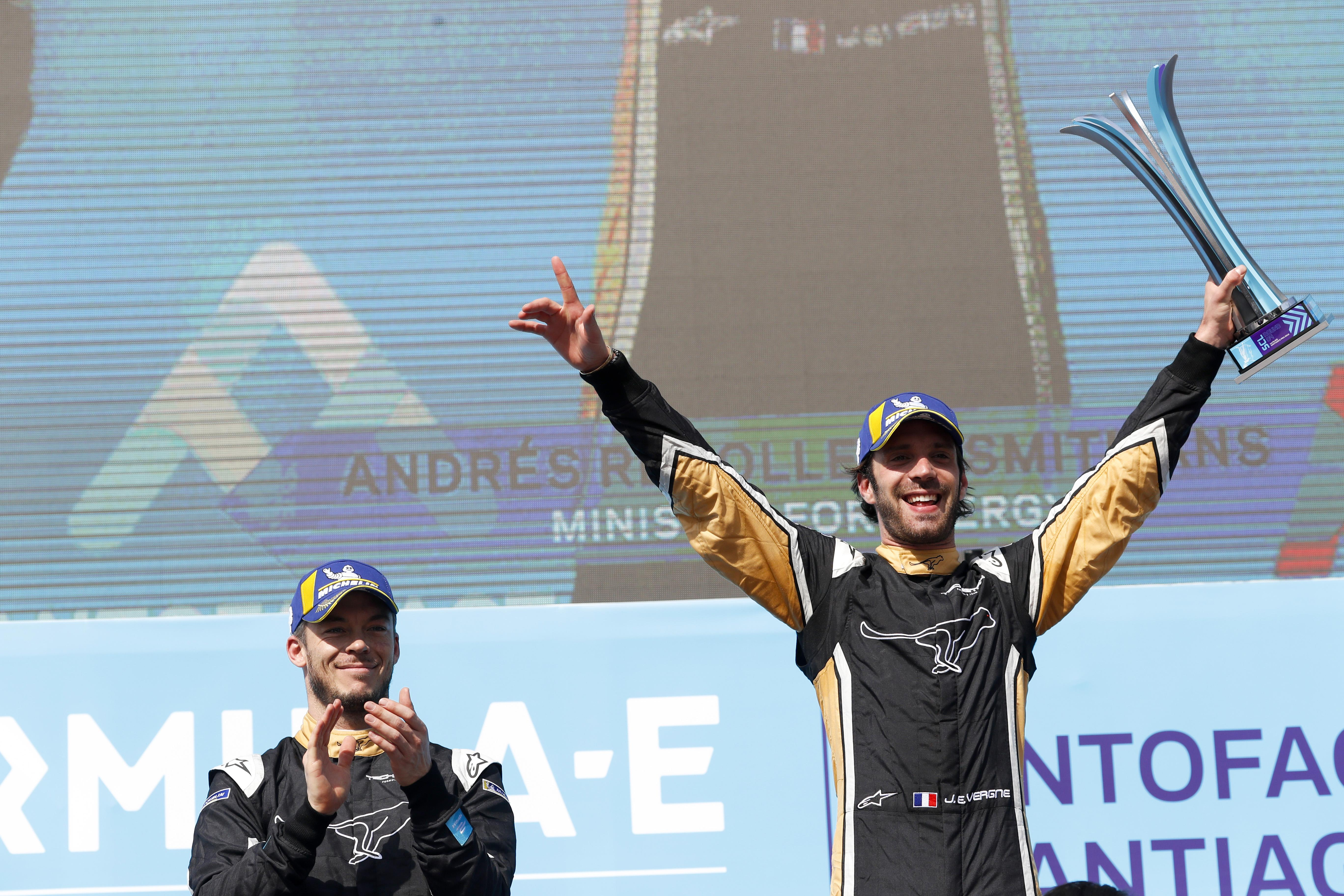 Jean-Eric Vergne won last time out in Santiago E-Prix