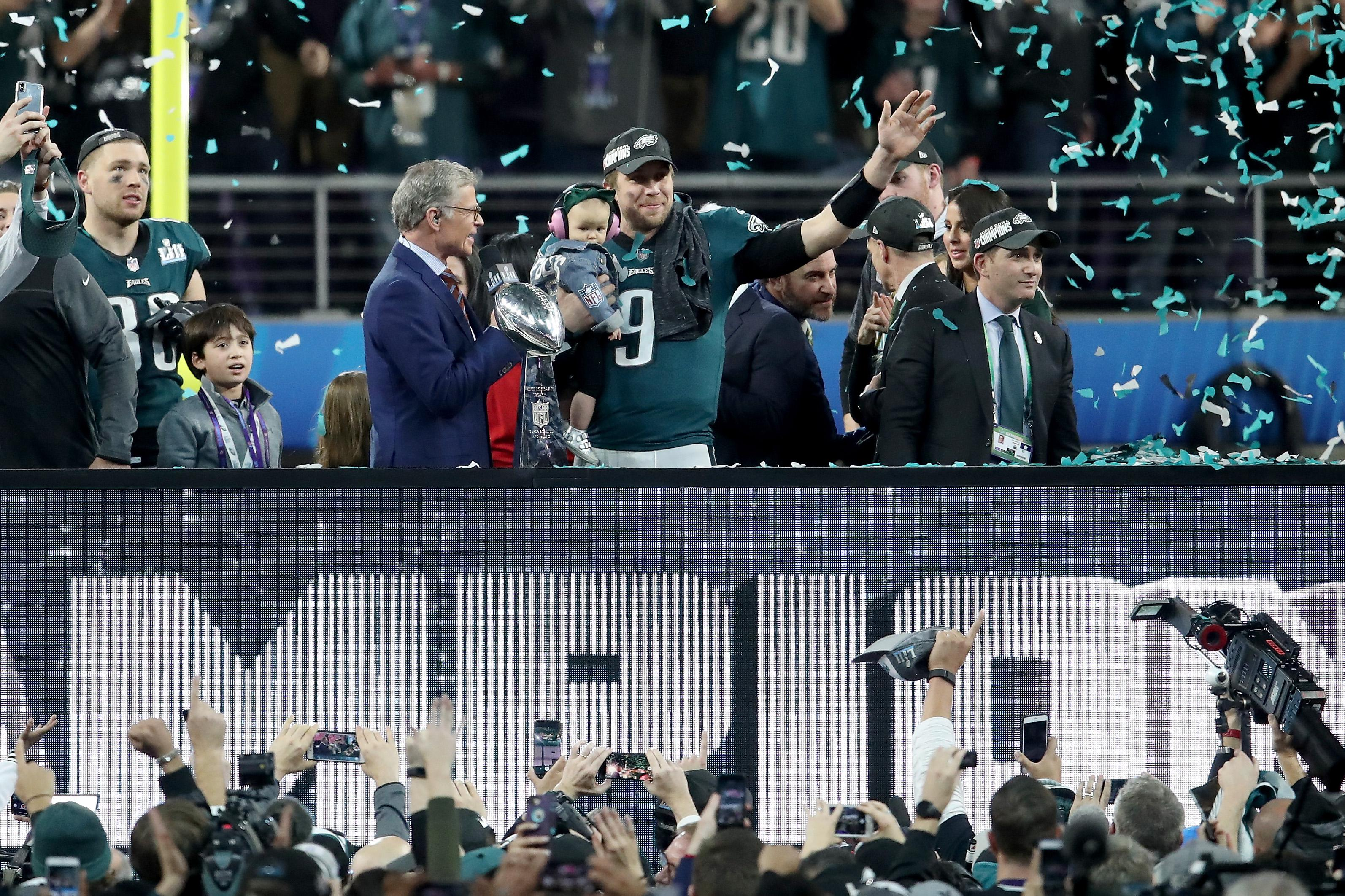 Nick Foles was named Super Bowl MVP after the stunning victory