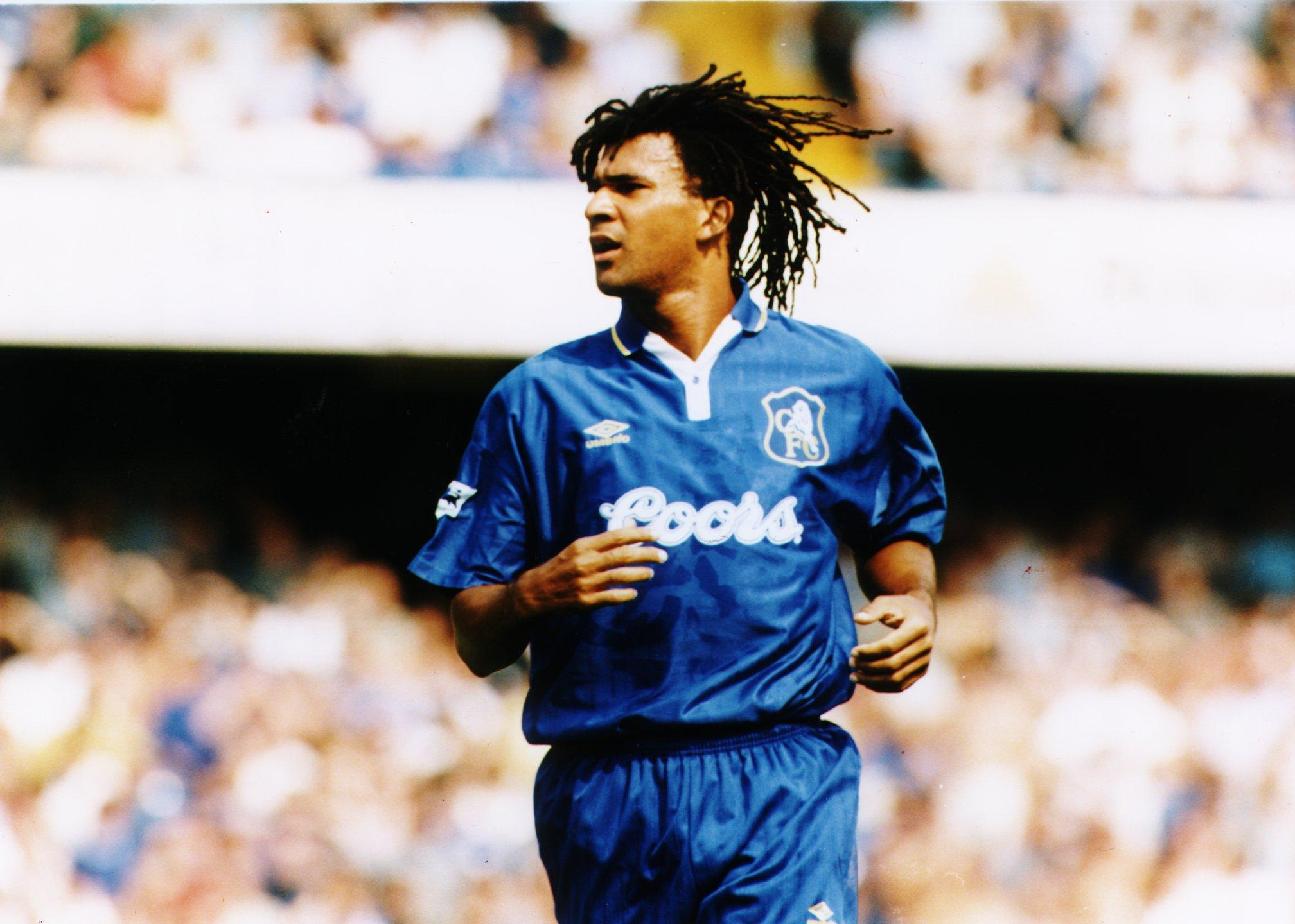 Gullit came to Chelsea in 1995 and was named in the Premier League Team of the Season