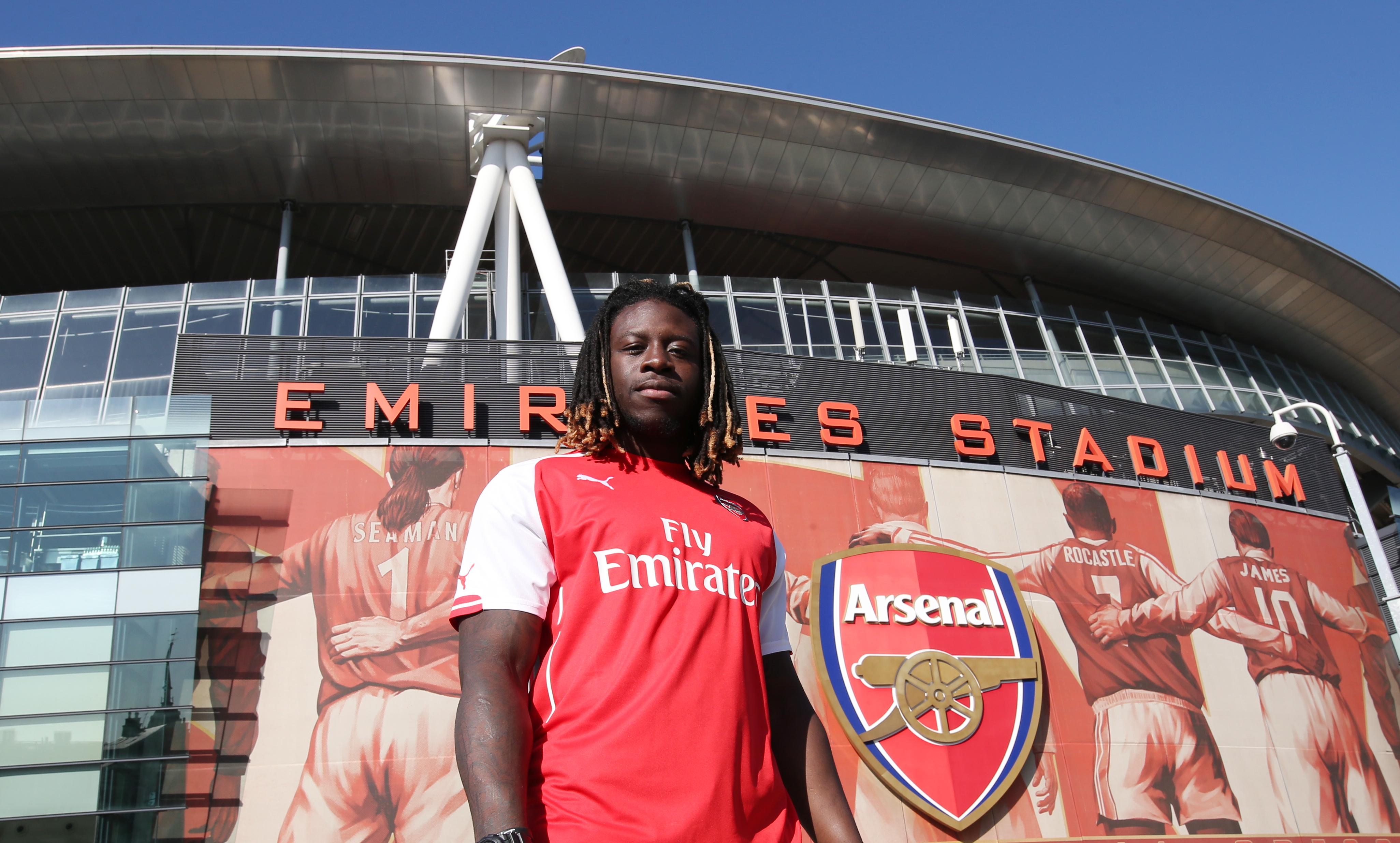 London-born Ajayi dons the red and white of his beloved Arsenal
