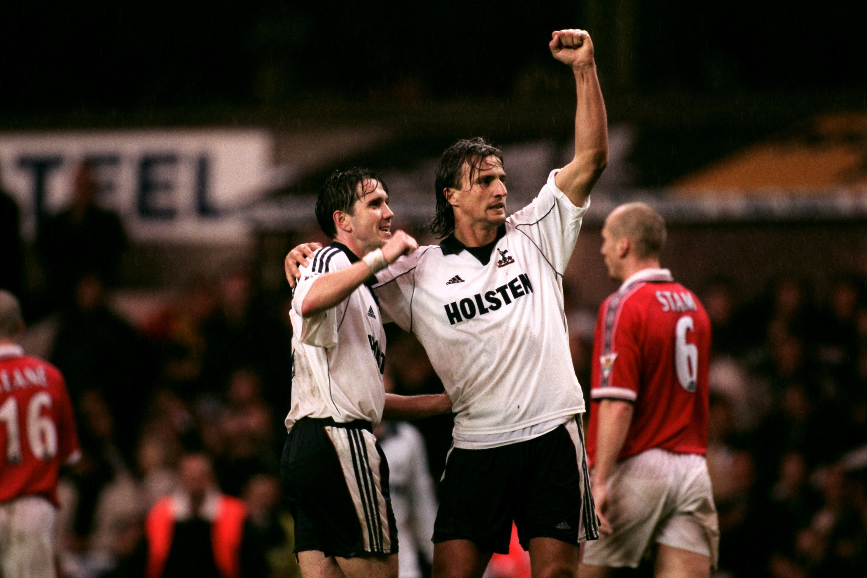 Ginola played 100 games for Tottenham after leaving Newcastle for White Hart Lane