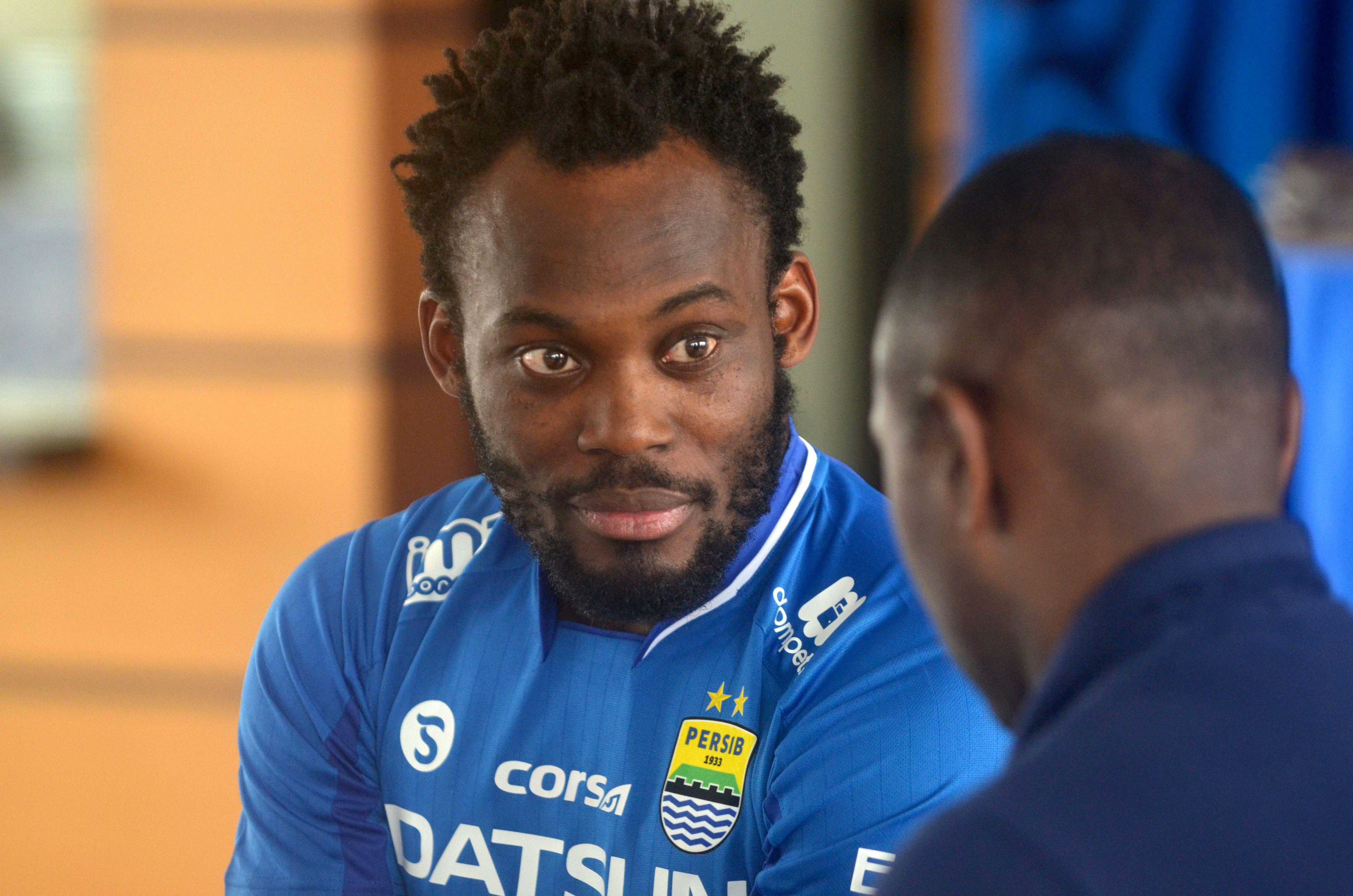 Ex-Chelsea man Michael Essien now plays for Indonesian side Persib Bandung