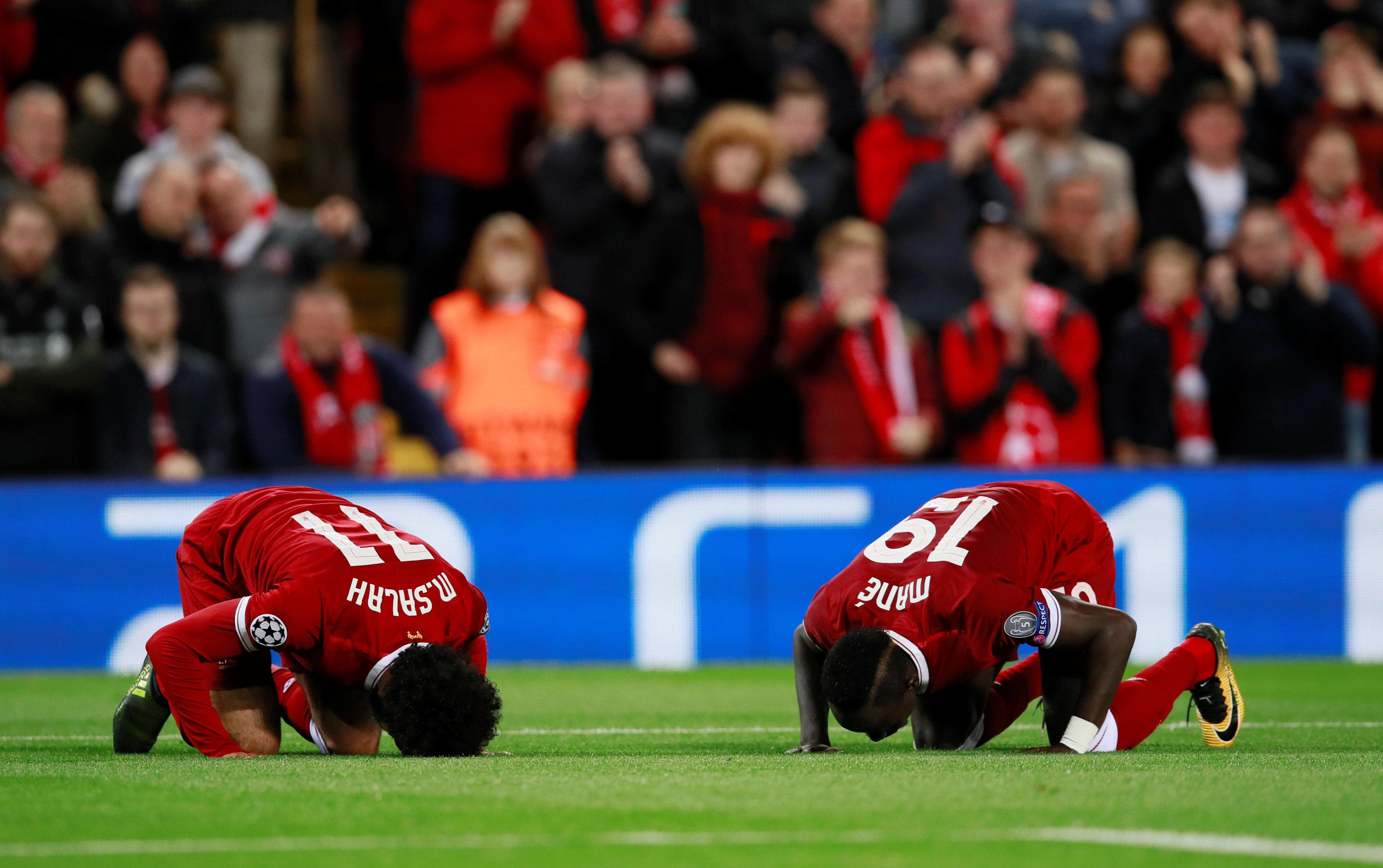 Mo has marked each of his goals since moving from Italian club Roma with a sujood, an act of worship in where he kneels and touches his head to the floor