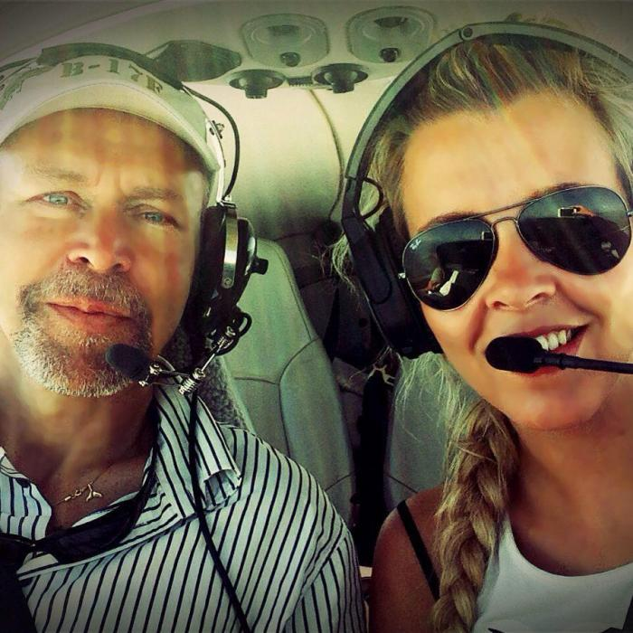 The young pilot said she had been inspired by her own father's career