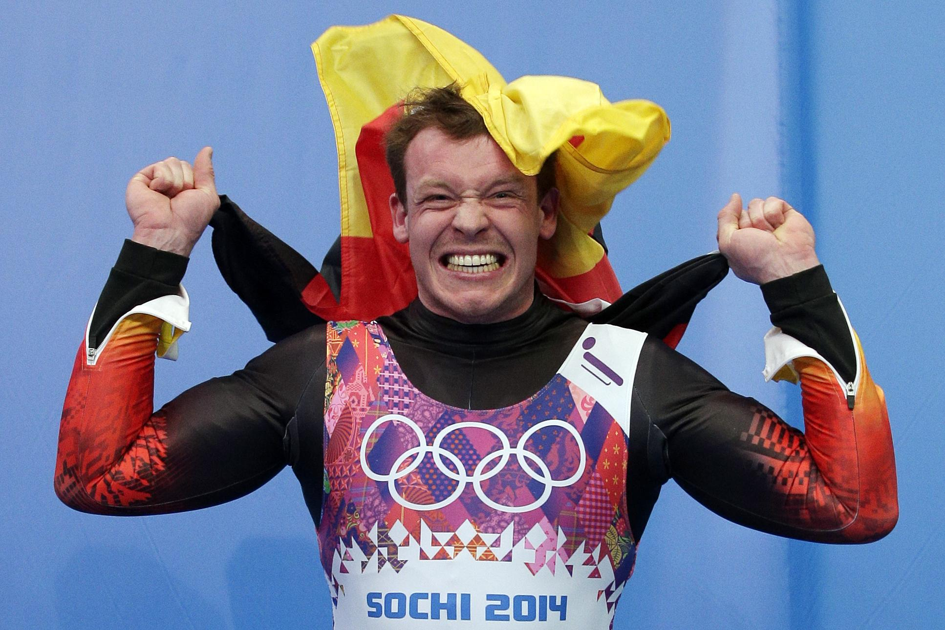 Felix Loch is the reigning men's singles gold medallist and he also won gold in the first ever team relay event at Sochi