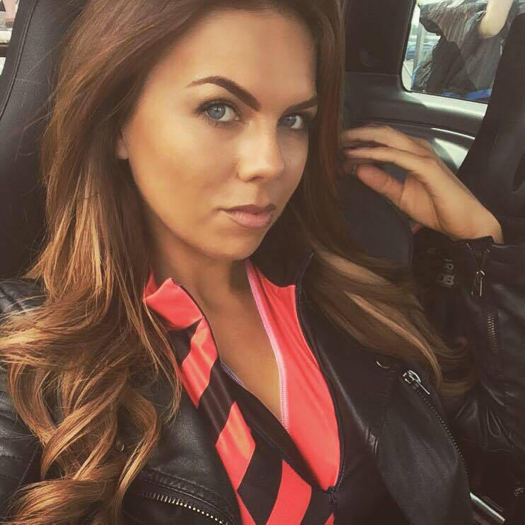 Chantel George was a pit girl for Kimi Raikonnen at the 2014 British Grand Prix