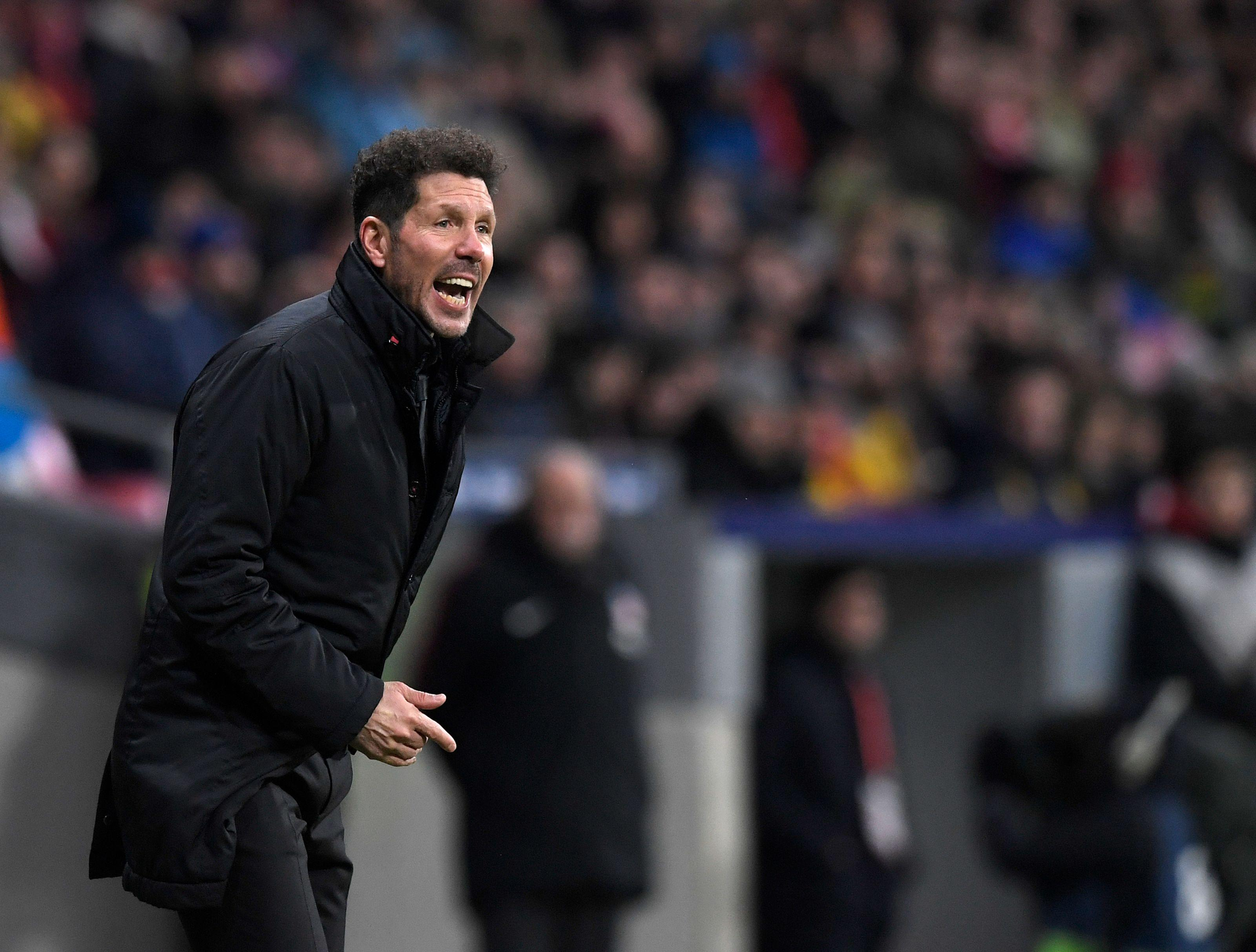 Diego Simeone was delighted with Atletico Madrid's comeback in Denmark