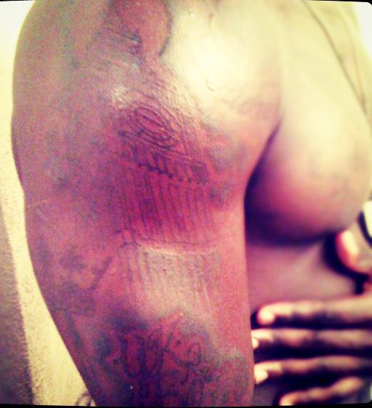 The East Londoner reveals a tattoo of Big Ben on his shoulder