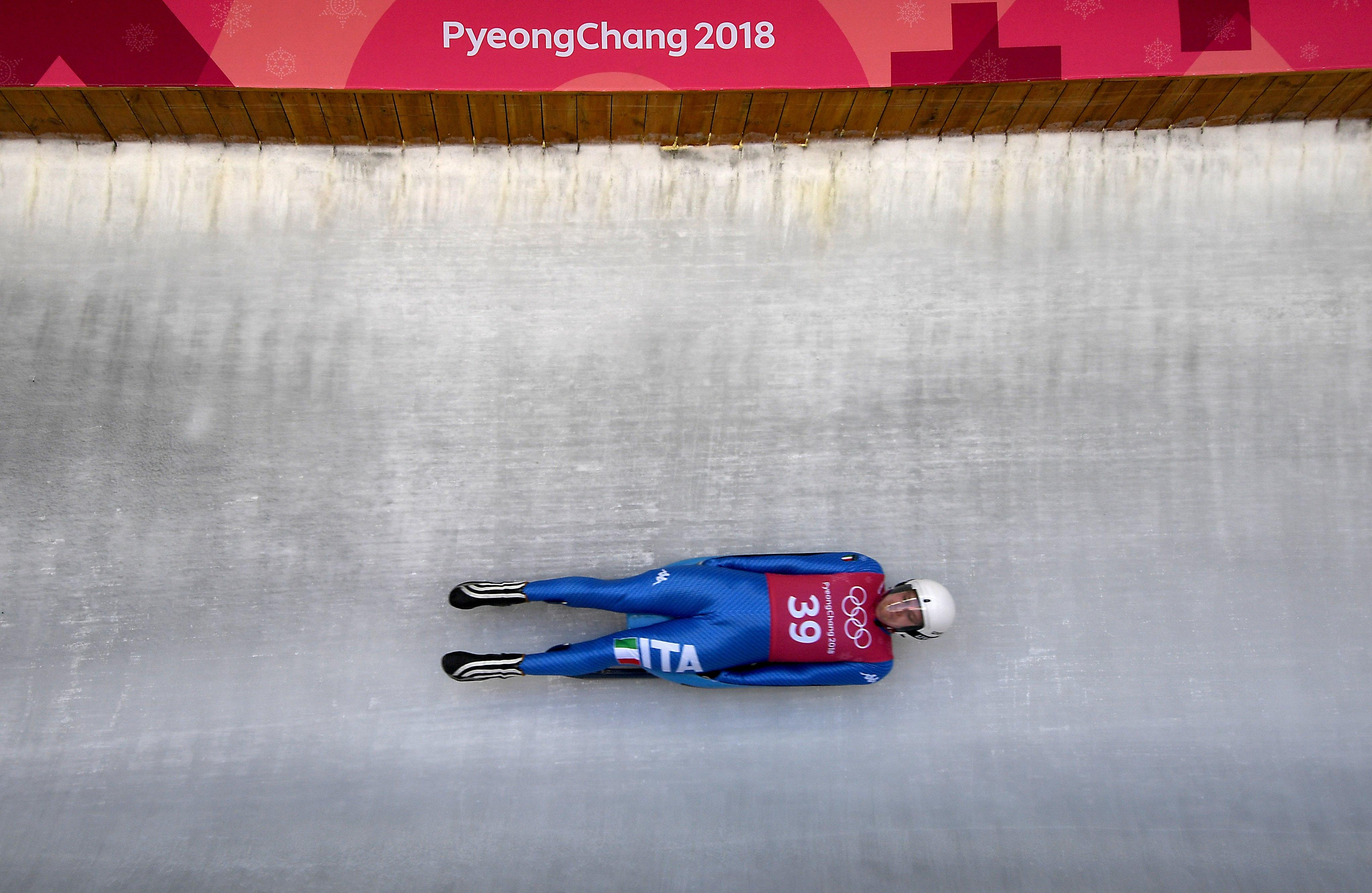 Athletes have been practising on the track in PyeongChang ahead of the heats starting on Saturday