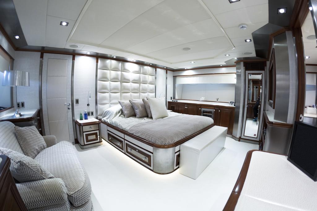 The Ascari yacht has a VIP room