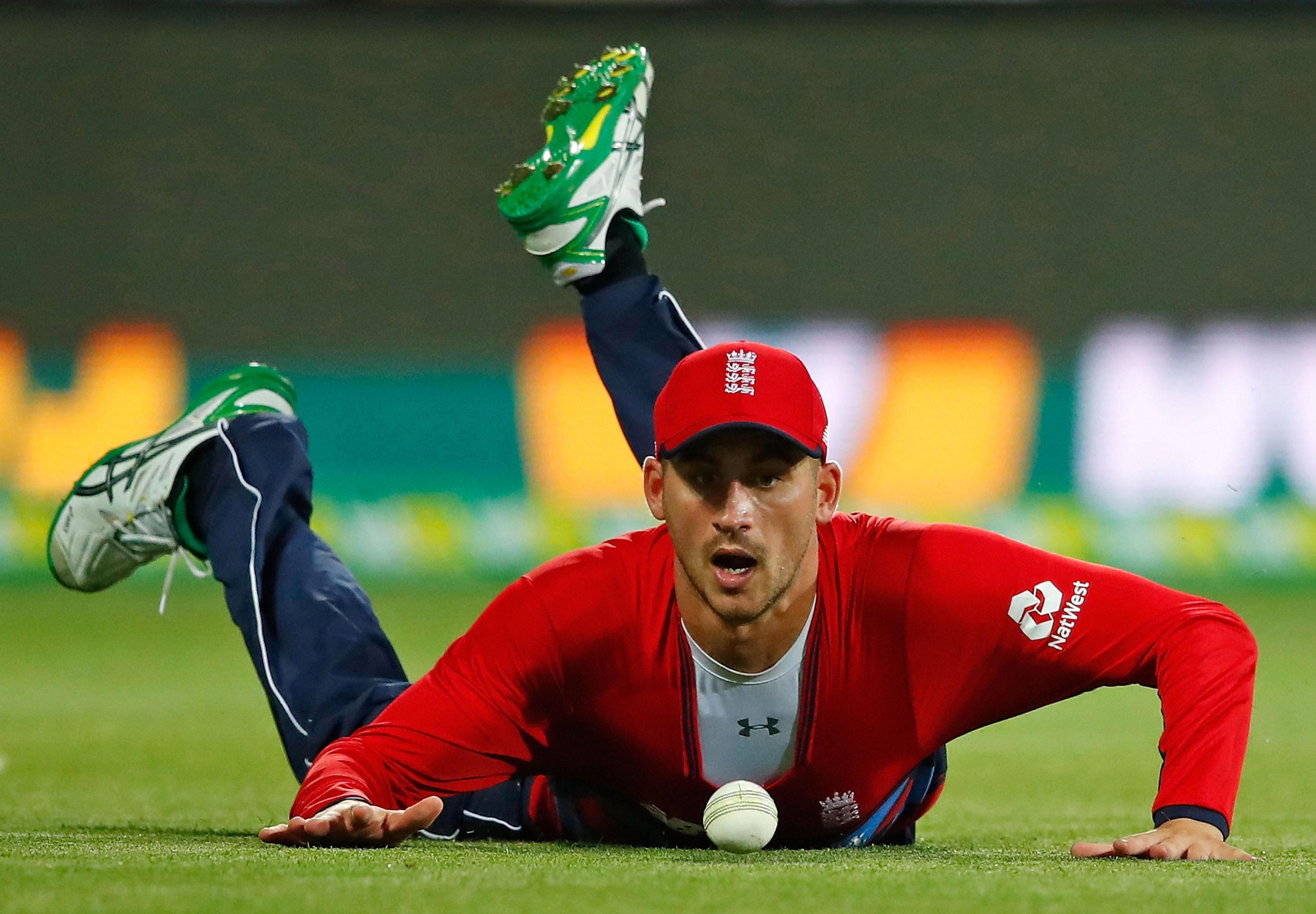 England toiled in the field as Glenn Maxwell fired the ball around the ground