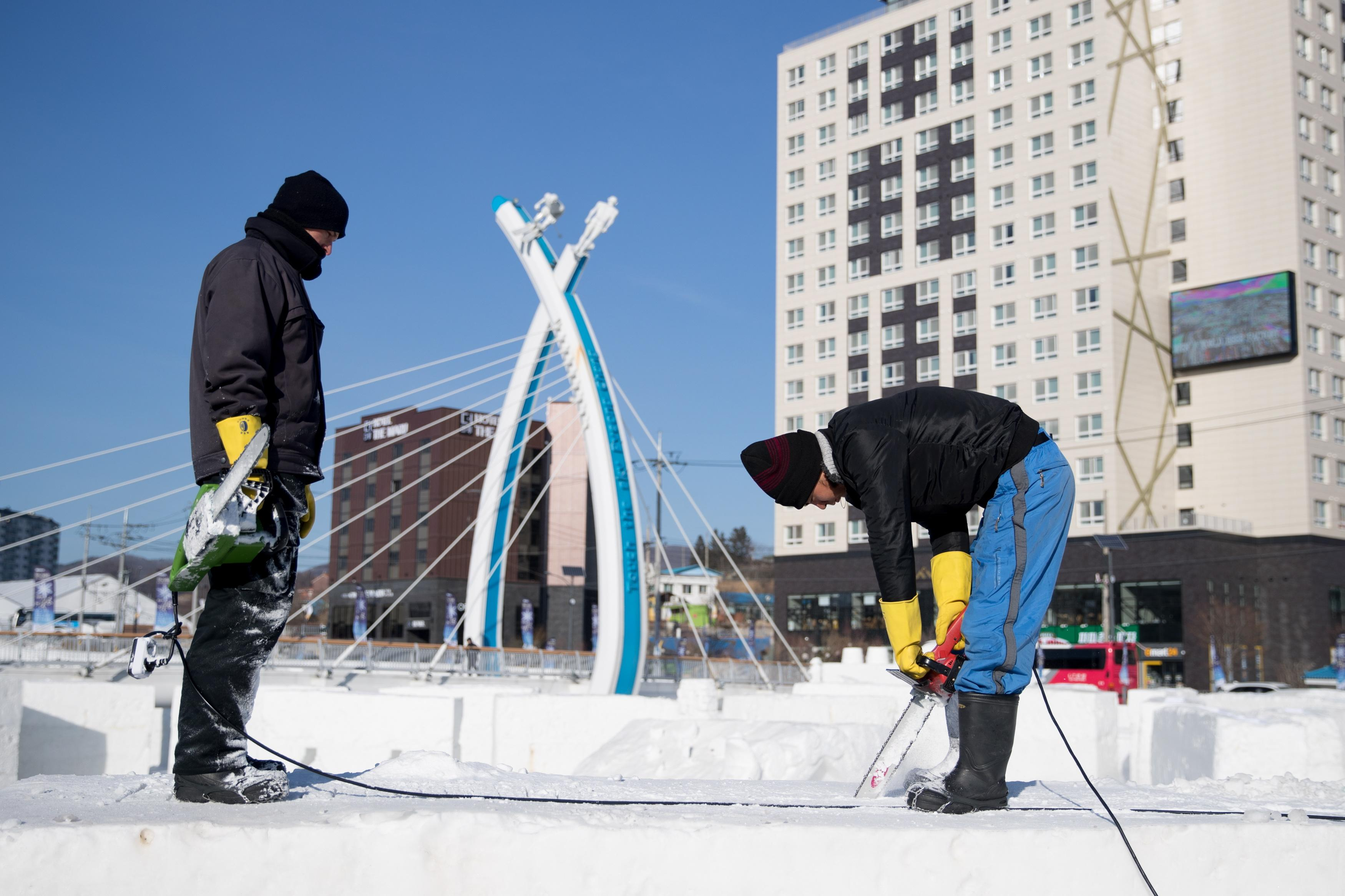 Temperature plummeted to -23C temperatures in South Korea, where the games are being held